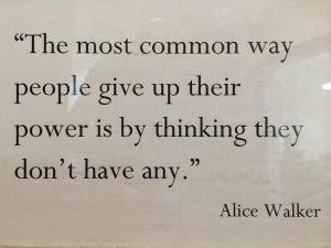 Alice Walker on power