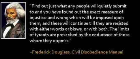 Douglass on civil disobedience