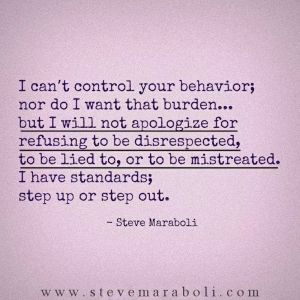 I have standards