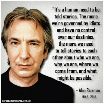 Alan Rickman on human need for stories